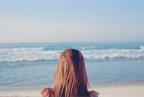 dress, girl, hair, sea, walter