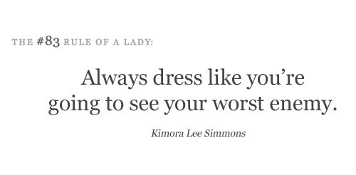 dress, kimora lee simmons, lady, quotes, rules