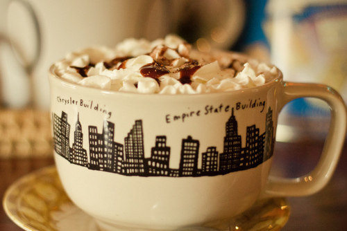 drink, food, hot chocolate, new york, winter, yummy