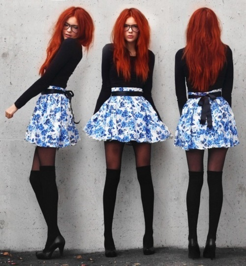 ebba zingmark, fashion, girl, red hair