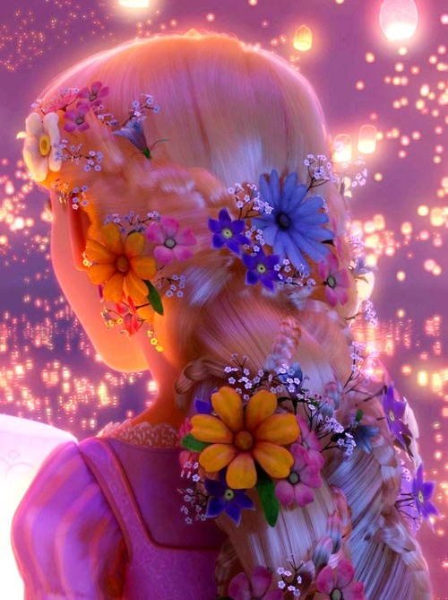 ethereal, flowers, girl, magic, tangled