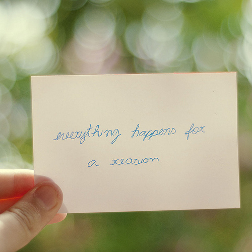 everything, for a reason, paper, quote, reason