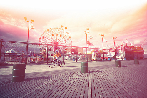 fair, ferris wheel, summer