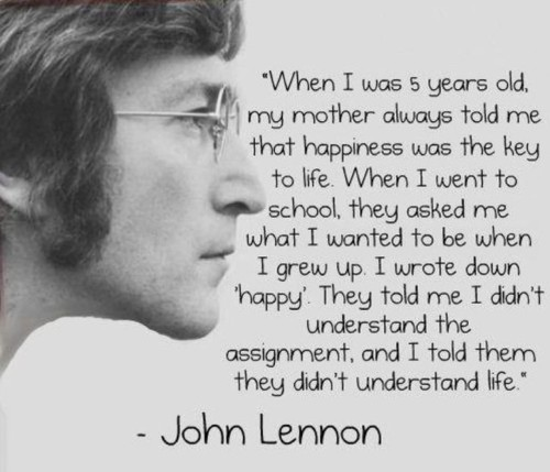 famous, genius, grow up, happiness, happy, john lennon, life, quotes, the beatles, understand
