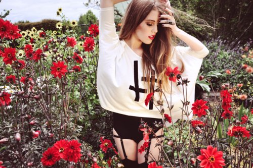 fashion, flower, girl