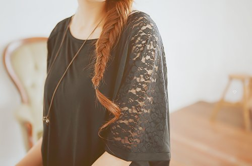 fashion, girl, hair, lace