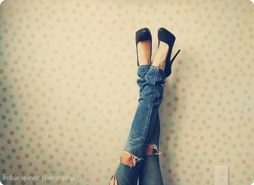 fashion, girl, high heels, jeans, shoes
