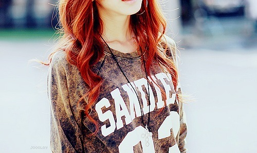 fashion, girl, red hair
