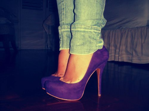fashion, heels, high heels, purple, purple heels