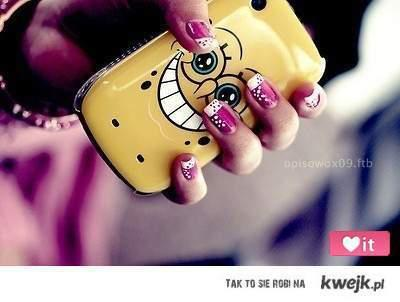 fashion, iphone, mobile, sponge bob, technology
