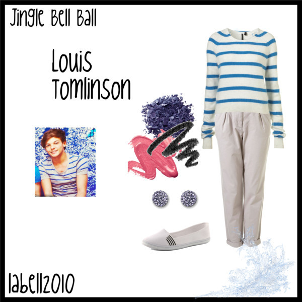fashion, jingle bell ball, louis tomlinson, one direction, outfit, polyvore