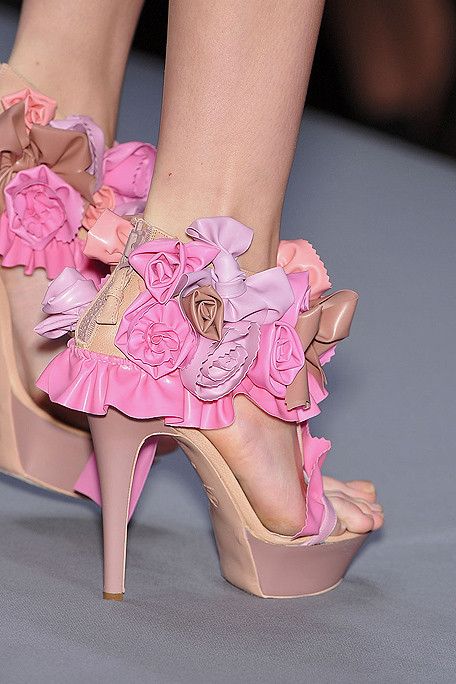 fashion, roses, runway, shoes, viktor & rolf