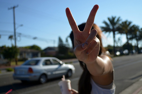 fingers, girl, peace, photography