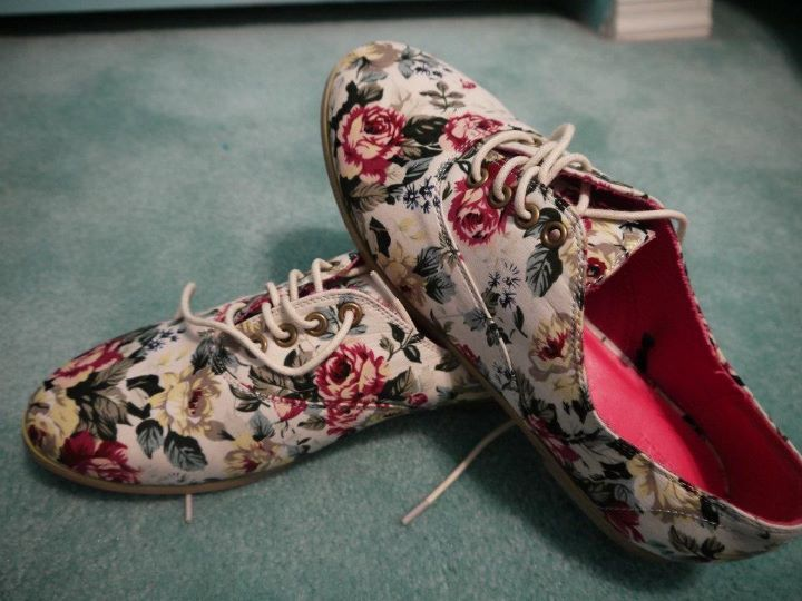 floral, flower, flower shoes, flowers, forever 21