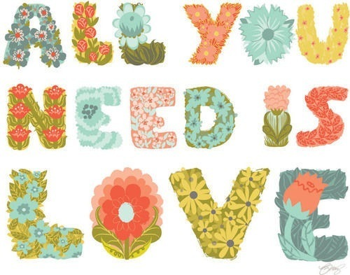 flowers, love, rhino, text