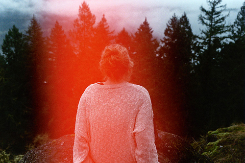 forest, girl, hair, indie, lightleak