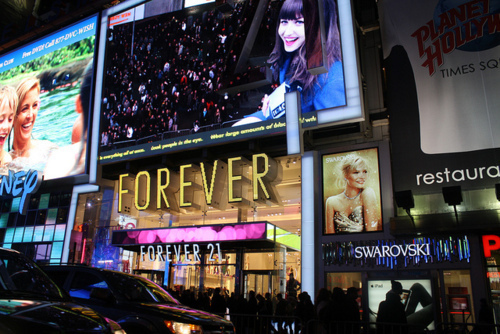 forever 21, new york, photography, shop, shopping, style, time square, times square