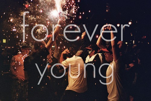 forever young, night, party, people