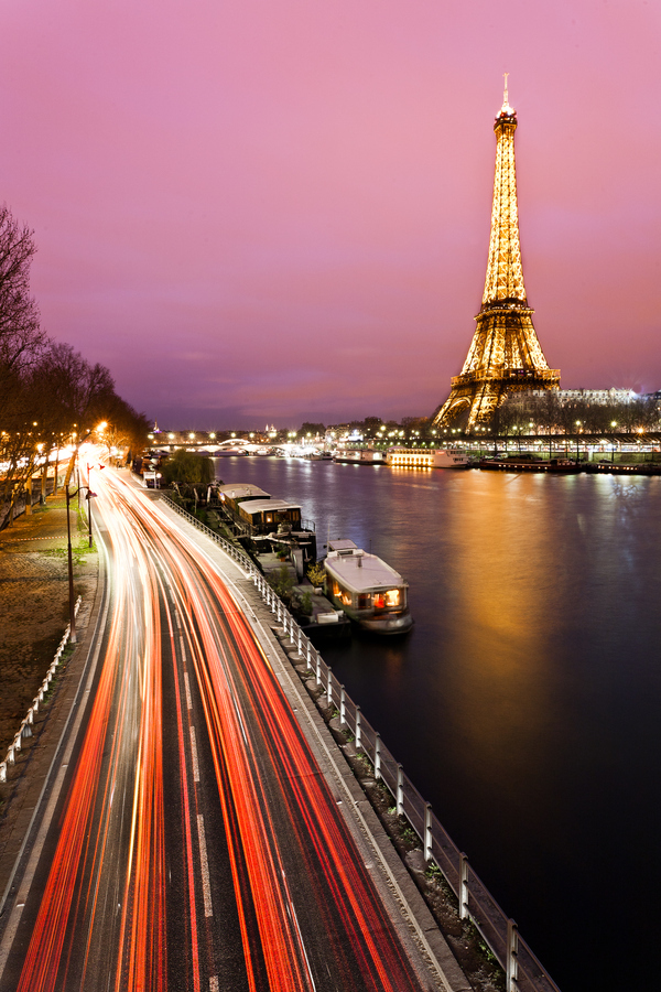 fotografia, lights, night, paris
