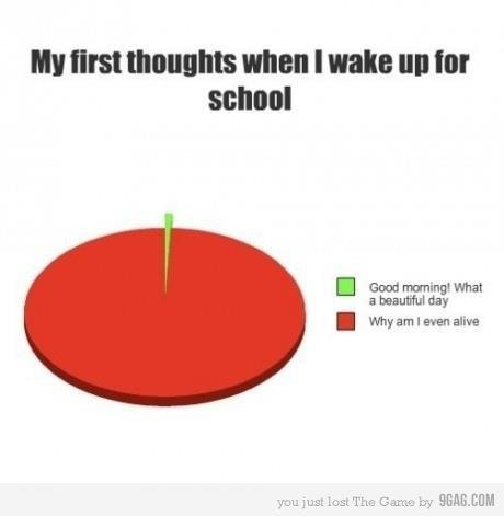 funny, hate school, wake up