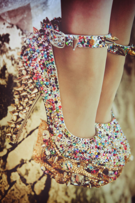 girl, glittery, legs, shoes