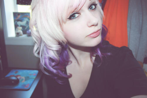 girl, gorgeous, purple hair