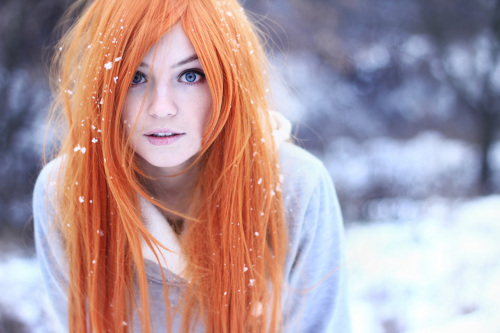 girl, hair, orange