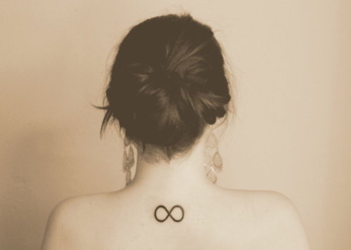 Girl Hipster Infinity Love Tattoo Image Favim