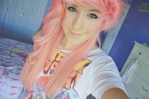 girl, imakawaiiprincess, pink hair