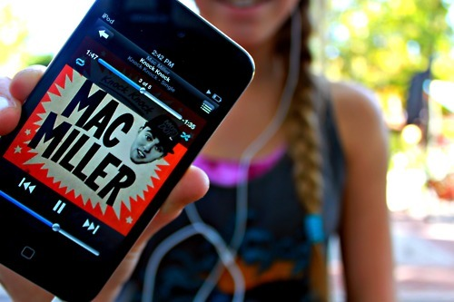 girl, iphone, ipod, mac miller, music, orange, photography