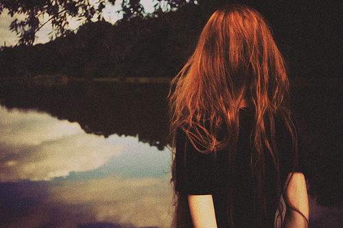 girl, lake, memories, nature, photograph