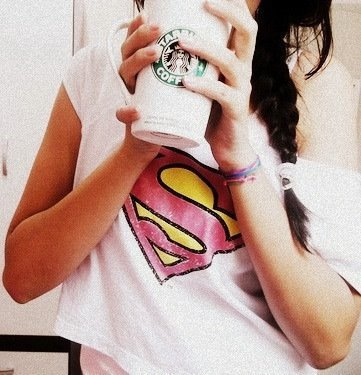 girl, maze, starbucks, superman