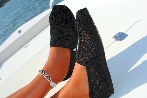 girl, sea, shoes, summer, toms