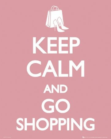 go shopping, keep calm, keep calm and carry on, pink