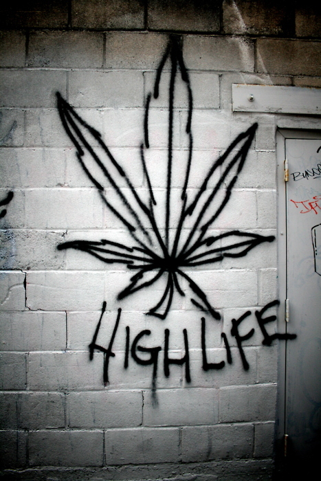 graffiti, high, life, weed