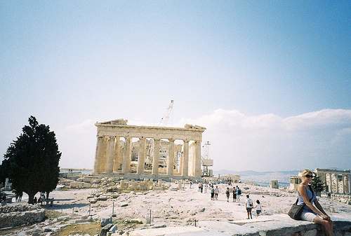 greek, hipster, photography, ruins, summer