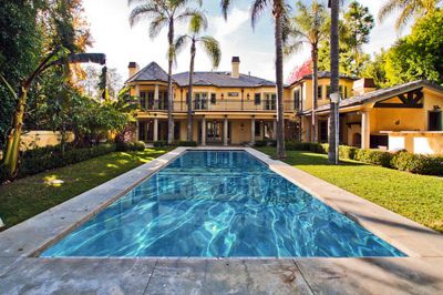 house, luxury, palm trees, paradise, pool, sky, the one my first, water