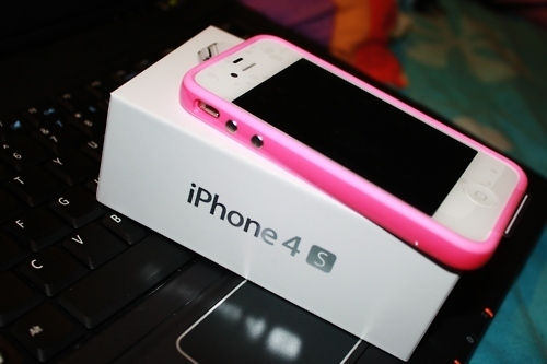 iphone, pink, white