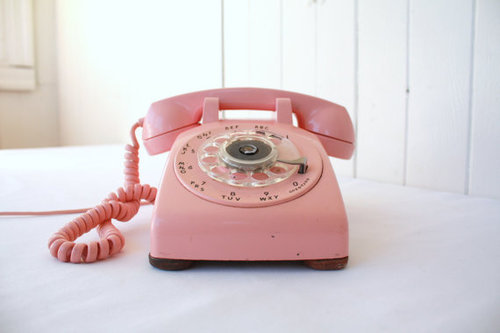 lovely, pastel, pink, telephone, vintage