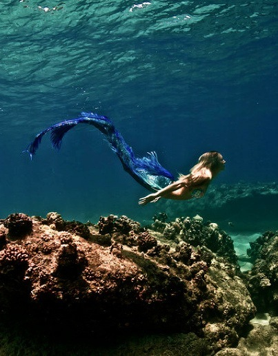 mermaid, sea, water
