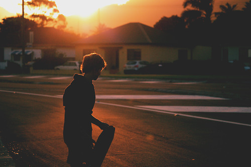 skate, skateboarding, sunset