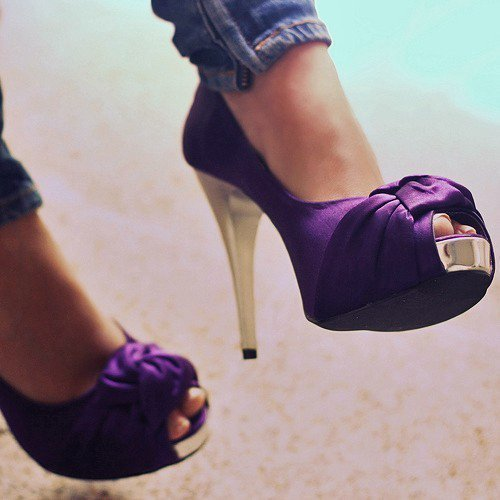 *-*, girl, happy things, purple, shoes