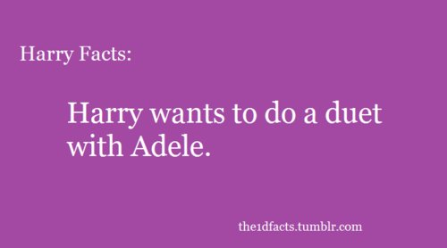 1dfacts , adele, fact, harry styles, one direction facts