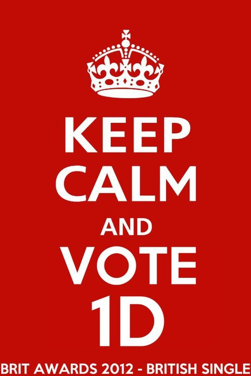 2012, award, brit, british, harry styles, keep calm, liam payne, louis tomlinson, niall horan, one direction, single, zayn malik