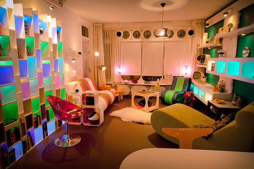 60s, 70s, colorful, interior, pop