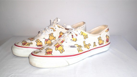 80s, 90s, pooh, shoes, vans