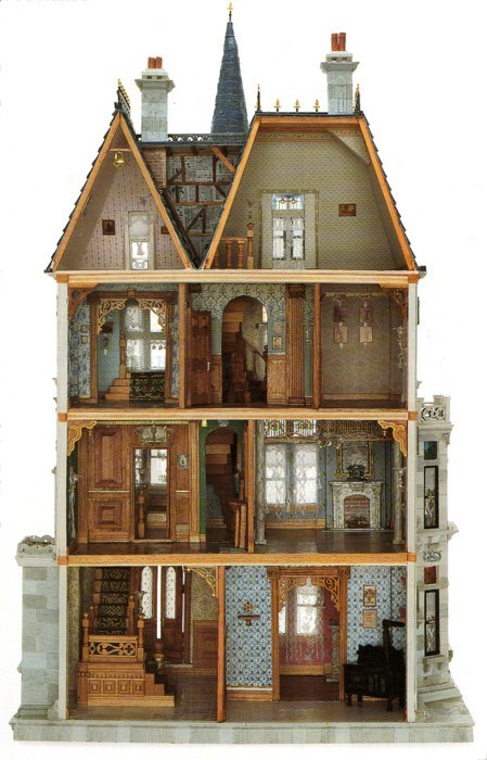 Miniatures, Dolls Houses, Stuff, Victorian Dollhouse, Dollhouses, Doll Houses, Kid