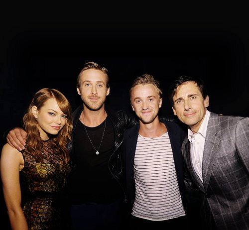 actor, actress, beautiful, cute, emma stone, handsome, hot, people, ryan gosling, steve carell, tom felton, twins, twinzzzz