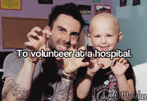 adam, adam levine, hospital, my2012wishes, volunteer