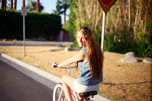 adorable, art, beautiful, bike, blond